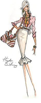 Hayden Williams Fashion Illustrations: Hayden Williams for Fashion Royalty: Peaches & Cream
