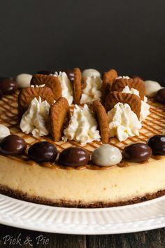 Cheesecake met speculaas en kruidnootjes voor Sinterklaas Cheesecakes, Cake Recipes, Sweet Tooth, Deserts, Food And Drink, Yummy Food, Lunch, Cookies, Healthy