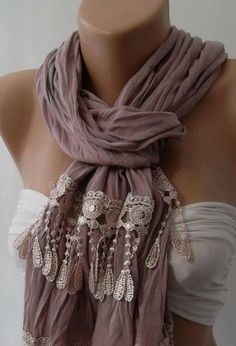 Lilac and Elegance Shawl / Scarf by womann on Etsy, $19.00