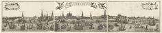 Profielgezicht van uit het IJ gezien op de stad Amsterdam, in 3 bladen., François van den Hoeye, Queradt, 1620 - 1625
