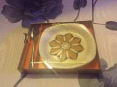Vintage Retro Boxed Palissy Jam Plate And Spoon by ChicCollective