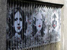 Arte urbana: Pinturas zebradas em colunas | Criatives | Blog Design, Inspirações, Tutoriais, Web Design