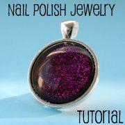 Nail polish Jewelry.  Great idea!!