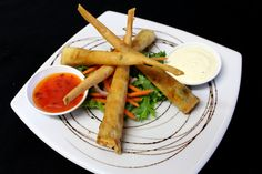 Tomi's Prawn Twisters - served with a small salad, sweet chilli and Aioli Twisters, Sweet Chilli, Aioli, Prawn, Starters, Salad, Ethnic Recipes, Food, Salads