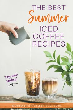 Want to try iced coffee but not sure where to start? Check out these 9 recipes along with tips on how to make a basic iced coffee drink at home Iced Coffee Drinks, Coffee Drink Recipes, Tea Recipes, Summer Recipes, Juice Recipes, Smoothie Recipes, Coffee Breakfast Smoothie, How To Make Ice Coffee, Summer Drinks
