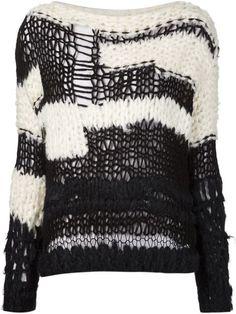 Купить Maison Margiela свитер ажурной вязки в The Webster from the world's best…