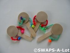 Mini Monkey Drum (India, Africa) SWAPS Kit for Girl Kids Scout makes 25