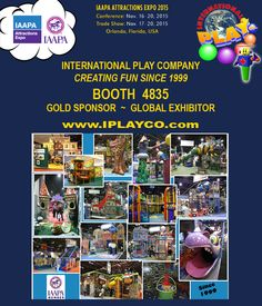 IAAPA November show - we are at booth #4835 -  Drop by and see us. #WeBUILDfun - Creating Fun since 1999 - We are also a Gold Sponsor and IAAPA Global Exhibitor.