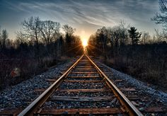 There is something about railroad tracks...