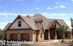 Love this client build of Rugged House Plan 16851WG in Texas. Where do YOU want to build?
