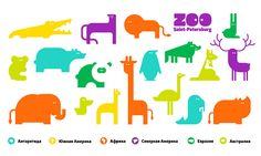 Saint-Petersburg Zoo  // Contributed by Anna Bolshakova and Vladimir Bolshakov / The identity is about evoking positive emotions. Friendly and funny characters play the main role in the zoo's communication, each interacting with the visitors. Every element of the identity is individual and the characters play an inseparable role. The new zoo in Saint-Petersburg. / branding / identity / logo / sketches / illustrations / animals / bright / playful