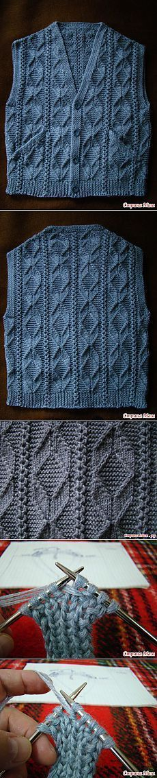 Жилет Мастер класс . [] # # #Knit #Tops, # #Vests, # #Masters, # #Tric, # #Tissues, # #Of #Agujas