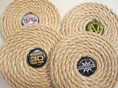 Craft Brew Collection beer bottle cap coasters. by RobertCayman, $20.00