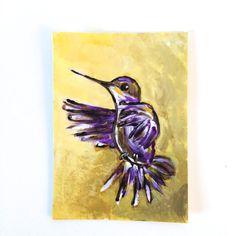 Live a Joyful Life!  #Hummingbird Small Acrylic #Painting by #SimplyClaudia on #Etsy #inspirationalquotes