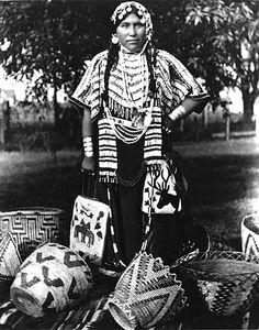 Yakama woman named George-Frances Dick, Washington, 1907.