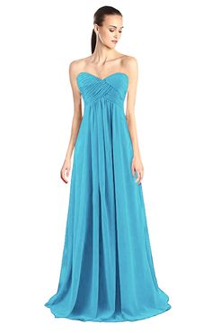 Women's Strapless Maxi Evening Prom Bridesmaid Chiffon Dress