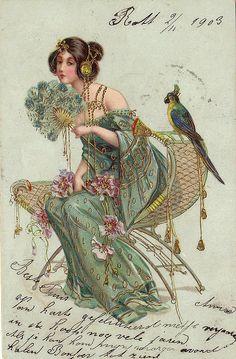 """Postcard """"parrot"""" - 1903"""