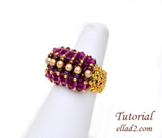 Tutorial Ring Malina-Beading Patterns and Tutorials by Ellad2