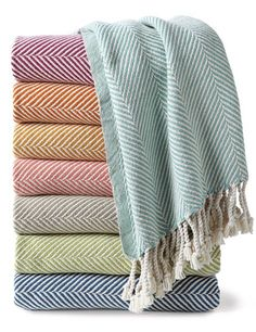 @Architectural Digest's Summer Gift Guide includes our Herringbone Throws!