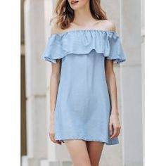 SHARE & Get it FREE | Trendy Off The Shoulder Short Sleeve Solid Color Dress For WomenFor Fashion Lovers only:80,000+ Items • FREE SHIPPING Join Twinkledeals: Get YOUR $50 NOW!