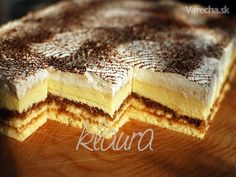 Fajné rezy (fotorecept) Hungarian Recipes, Russian Recipes, Czech Recipes, Ethnic Recipes, Czech Desserts, Wonderful Recipe, Dessert Bars, Baked Goods, Baking Recipes