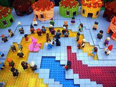 LEGO Wizard Of Oz   Lego wizard of oz munchkin land.