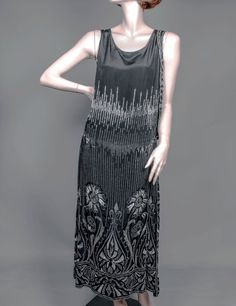 1920's Silk Beaded Gown