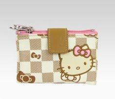 HK checkered jewelry pouch