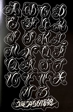 Tattoo Lettering Alphabet, Calligraphy Fonts Alphabet, Tattoo Lettering Styles, Graffiti Lettering Fonts, Chicano Lettering, Graffiti Alphabet, Tattoo Script, Lettering Design, Islamic Calligraphy