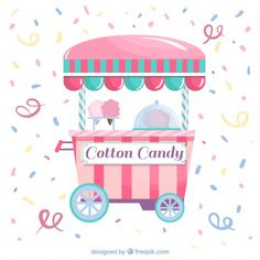 Confetti background with cotton candy trolley , Candy Background, Confetti Background, Happy Fathers Day Greetings, Father's Day Greetings, Nail Art Cupcake, Funny Candy, Kawaii Disney, Ice Cream Theme, Father's Day Greeting Cards