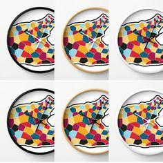 Colorful. Mix.  #etsyau #etsy #etsymlm #etsyshop #etsyseller #walldecor #wallclock #clock #homedecor #design #coolart #graphic #graphicdesign #abstractart by kivapaca