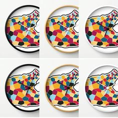 Colorful. Mix.  #etsyau #etsy #etsymlm #etsyshop #etsyseller #walldecor #wallclock #clock #homedecor #design #coolart #graphic #graphicdesign #abstractart by kivapaca