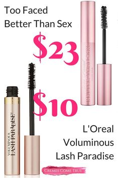 L'Oreal has a PERFECT Dupe for Too Faced Better Than Sex Mascara ! That's right, a drugstore mascara dupe for the high-end cult favorite. Best Drugstore Mascara, Best Mascara, How To Apply Mascara, Applying Mascara, Apply Eyeliner, Glitter Eyeliner, Glitter Makeup, Make Up Palette, Blinc Mascara