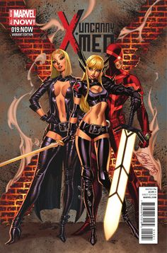 Uncanny X-Men 19.NOW Variant Cover by J. Scott Campbell