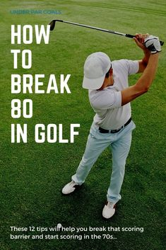 Ready to break that scoring barrier? Shoot in the 70s the next time you play with these 12 tips on how to break 80 in golf. Simple golf instruction to improve your game. Pga Tour Players, Golf Books, Golf Score, Golf Chipping, Best Golf Courses, Golf Instruction, Golf Putting, Golf Exercises, Golf Training