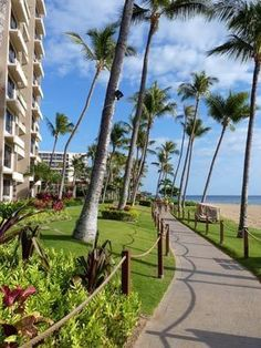 Strolling the boardwalkis a favorite pastime in Maui's Kaanapali beach area.
