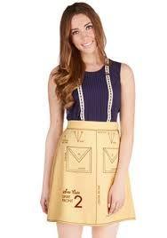 Clothing pattern skirt