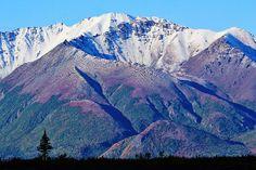 """September Snow Dusting, In The Alaska Range, Matanuska-Susitna Borough, Alaska"""