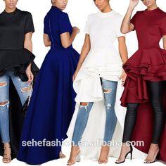 Source 1018-YC1 ladies fashion western design hi low ruffle dresses on m.alibaba.com