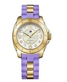 8651c05dfeffc3 Amazon.com  Tommy Hilfiger K2 Gold Tone Dial Ladies Casual Watch 1781564   Watches