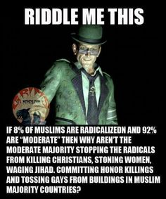 "Why aren't the ""moderates"" speaking out against the radicals?"