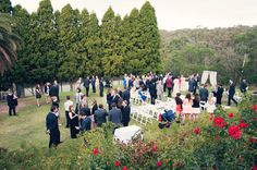 Outdoor Ceremony on the Farm Vigano lawns