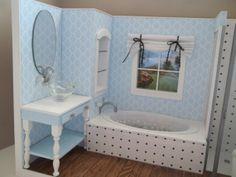 Bathroom Diorama/Room Box for Barbie by bedsbystar on Etsy, $150.00