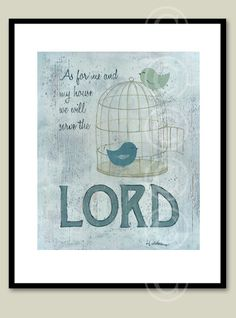 Serve the Lord  vintage style art print by jeannewinters on Etsy, $21.00