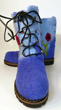 My very first Wet Felted Boot
