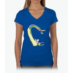 Lady Rainicorn Selfie Unicorn Womens V-Neck T-Shirt