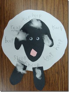 Chalk Talk: A Kindergarten Blog: lamb with rhyming words to make after reading Sheep In A Jeep