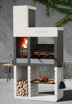 Le barbecue grill Sunday One de design moderne par Emo Design
