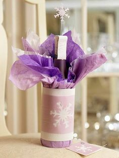 WHOA!!!  A little much but the perfect occasion might arise -- Lovely Lavender Wine Wrap
