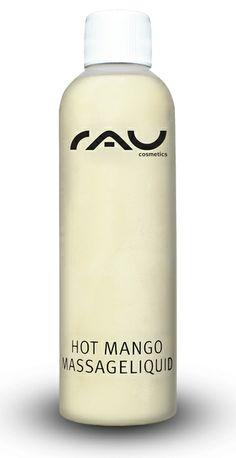 RAU Hot Mango 200 ml, Massage-Lotion mit wilder Mango und hochwertigen pflanzlichen Ölen. Die Butterextrakte der wilden Mango und weitere hochwertige pflanzliche Öle machen die Haut seidig weich und unterstützen die Rückfettung. Die Vielzahl natürlicher Auszüge machen sie zur perfekten Massage-Lotion für Gesicht und Körper. Ihre Haut wird sich sanfter und glatter anfühlen als je zuvor! Auf Körpertemperatur erwärmen. Frei von Konservierungsstoffen oder Mineralölen!